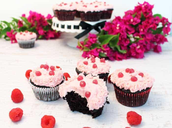 Chocolate Raspberry Cocktail Cupcakes 6 | 2 Cookin Mamas