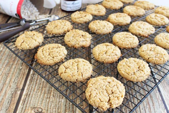 Peanut Butter and Jelly Cookies cooling | 2 Cookin Mamas