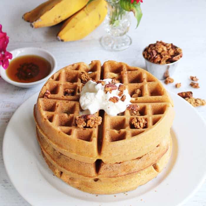 Quinoa Waffles square | 2 Cookin Mamas