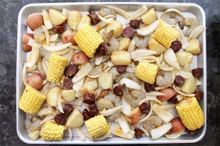Sheet Pan Shrimp Boil Dinner 3 | 2 Cookin Mamas