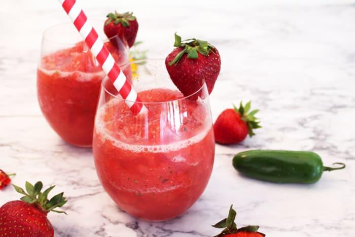 Strawberry Jalapeno Moscow Mule Slushie 1 | 2 Cookin Mamas