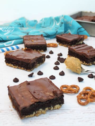 Triple Layer Brownies square   2 Cookin Mamas