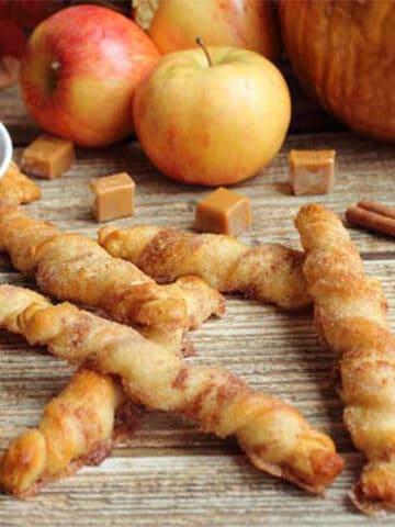 Apple Pie Twists square | 2 Cookin Mamas