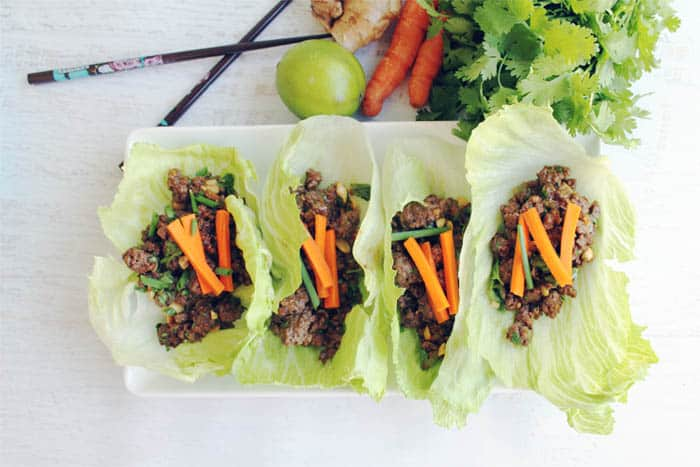 Asian Beef Lettuce Wraps 3 | 2 Cookin Mamas