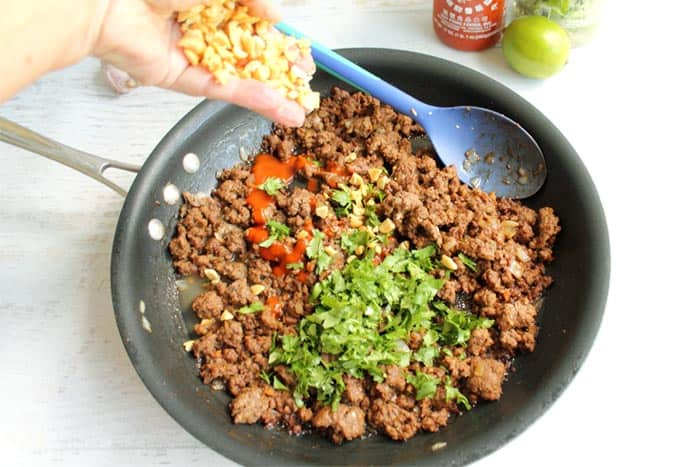 Asian Beef Lettuce Wraps prep 5 | 2 Cookin Mamas