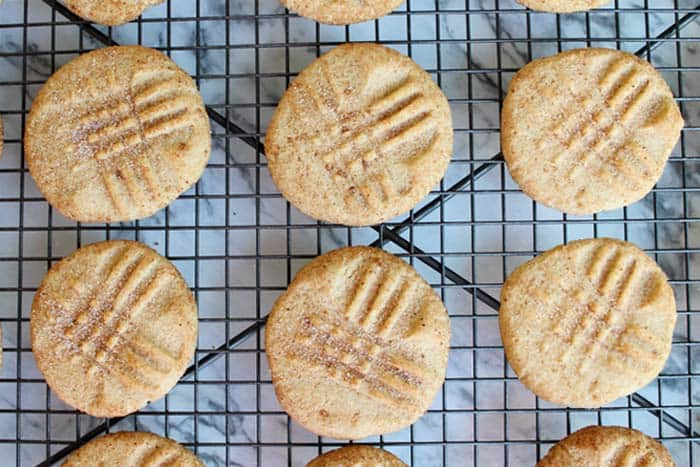 Peanut Butter Snickerdoodles overhead | 2 Cookin Mamas