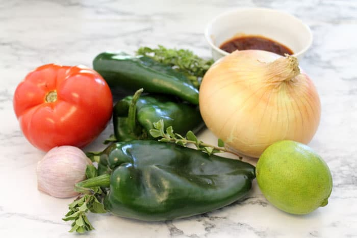 Poblano Chicken Stew ingredients | 2 Cookin Mamas