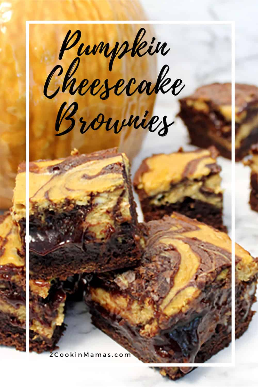 Pumpkin Cheesecake Brownies + Video