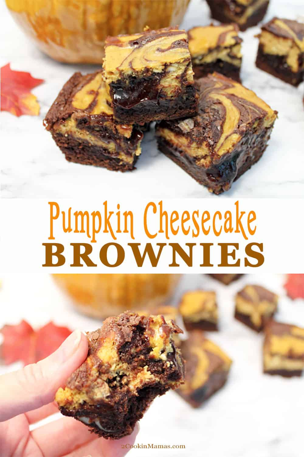 Pumpkin Cheesecake Brownies Perfect for Fall