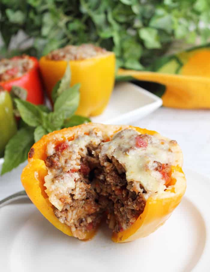 Taco Stuffed Peppers inside BEST | 2 Cookin Mamas