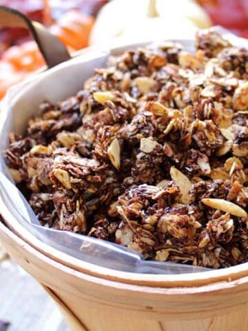 Chocolate Granola square | 2 Cookin Mamas
