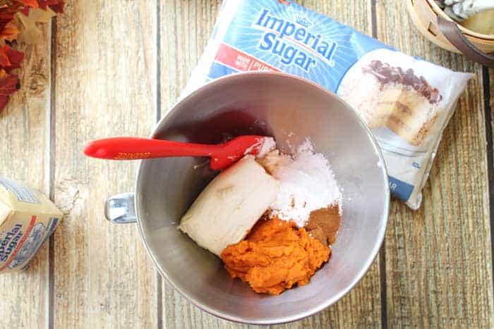 No Bake Pumpkin Cheesecake ingredients   2 Cookin Mamas