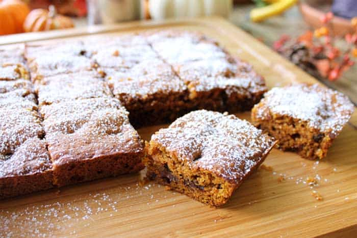 Pumpkin Chocolate Spice Bars 1 | 2 Cookin Mamas
