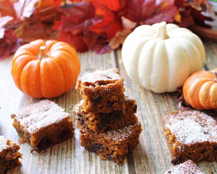 Pumpkin Chocolate Spice Bars 6 | 2 Cookin Mamas