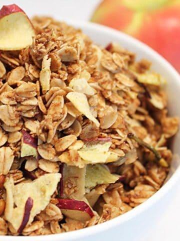 Apple Crisp Granola Square   2 Cookin Mamas