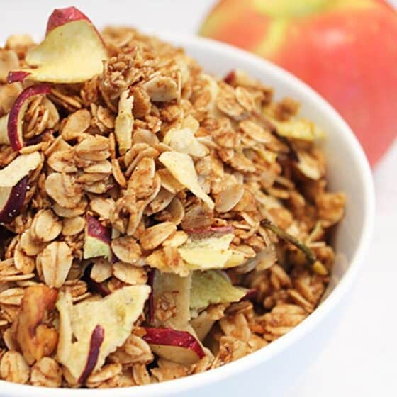Apple Crisp Granola Square | 2 Cookin Mamas