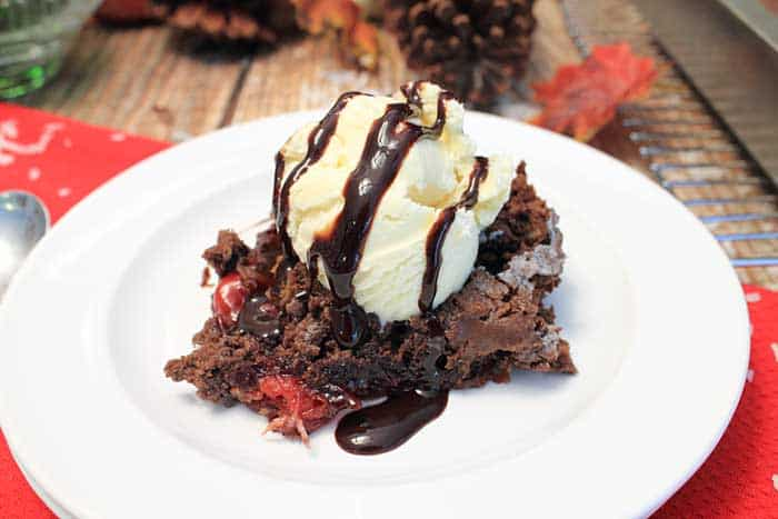 Black Forest Crisp closeup | 2 Cookin Mamas