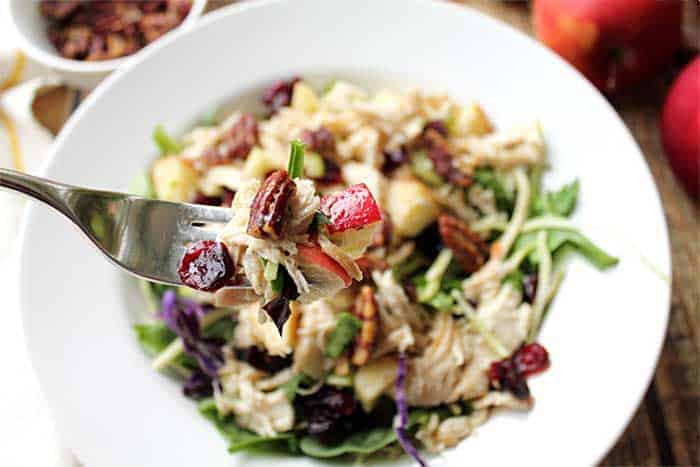Harvest Chicken Salad bite   2 Cookin Mamas