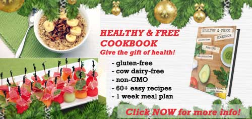 Healthy and Free Cookbook Xmas ad | 2 Cookin Mamas