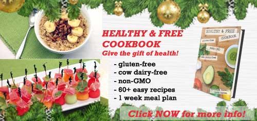 Healthy and Free Cookbook Xmas ad | 2 Cookin Mamas