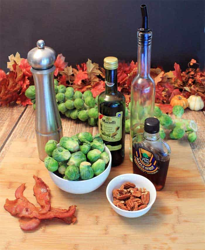 Maple Roasted Brussels Sprouts ingredients   2 Cookin Mamas