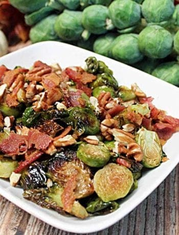 Maple Roasted Brussels Sprouts square | 2 Cookin Mamas