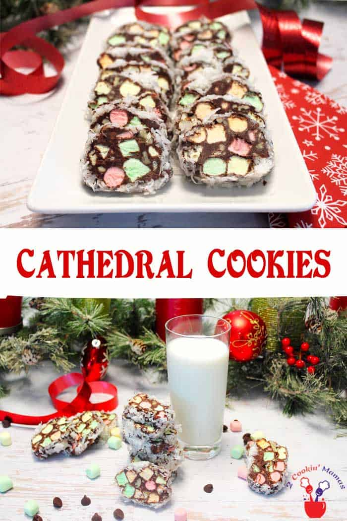 Easy No Bake Cathedral Cookies 2 Cookin Mamas