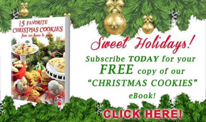 Christmas Cookies ebook subscription ad | 2 cookin mamas