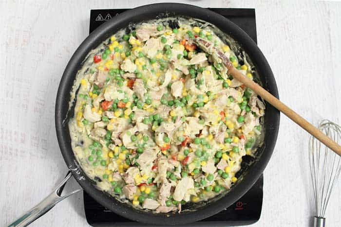Leftover Turkey Pot Pie mixture | 2 Cookin Mamas