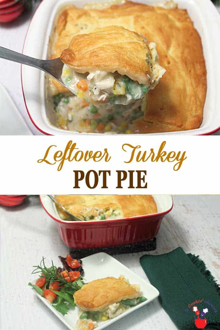 Leftover Turkey Pot Pie | 2 Cookin Mamas Our single crust leftover turkey pot pie combines vegetables, leftover turkey, chicken broth, fat-free half & half & cheese for a delicious & healthier dinner option. Believe me, leftovers never tasted so good! #dinner #turkey #potpie #healthyeating #recipe