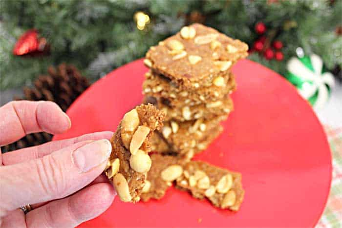 Peanut Brittle Cookies bite | 2 Cookin Mamas