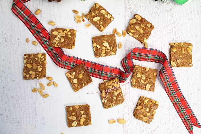 Peanut Brittle Cookies overhead | 2 Cookin Mamas