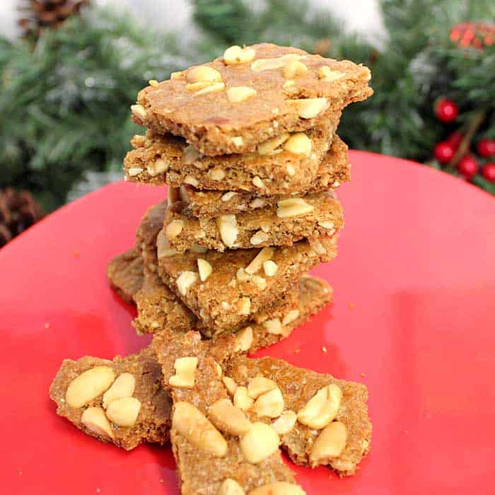 Peanut Brittle Cookies square | 2 Cookin Mamas