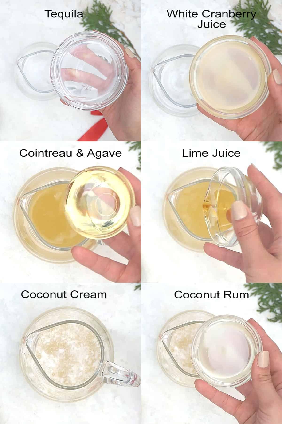Easy steps to make white margarita.