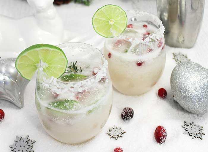 White Christmas Margarita for 2 | 2 Cookin Mamas