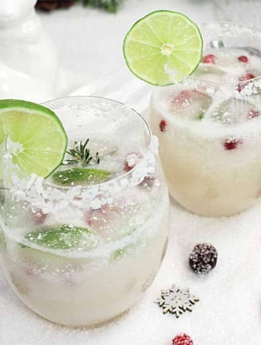 White Christmas Margarita square | 2 Cookin Mamas