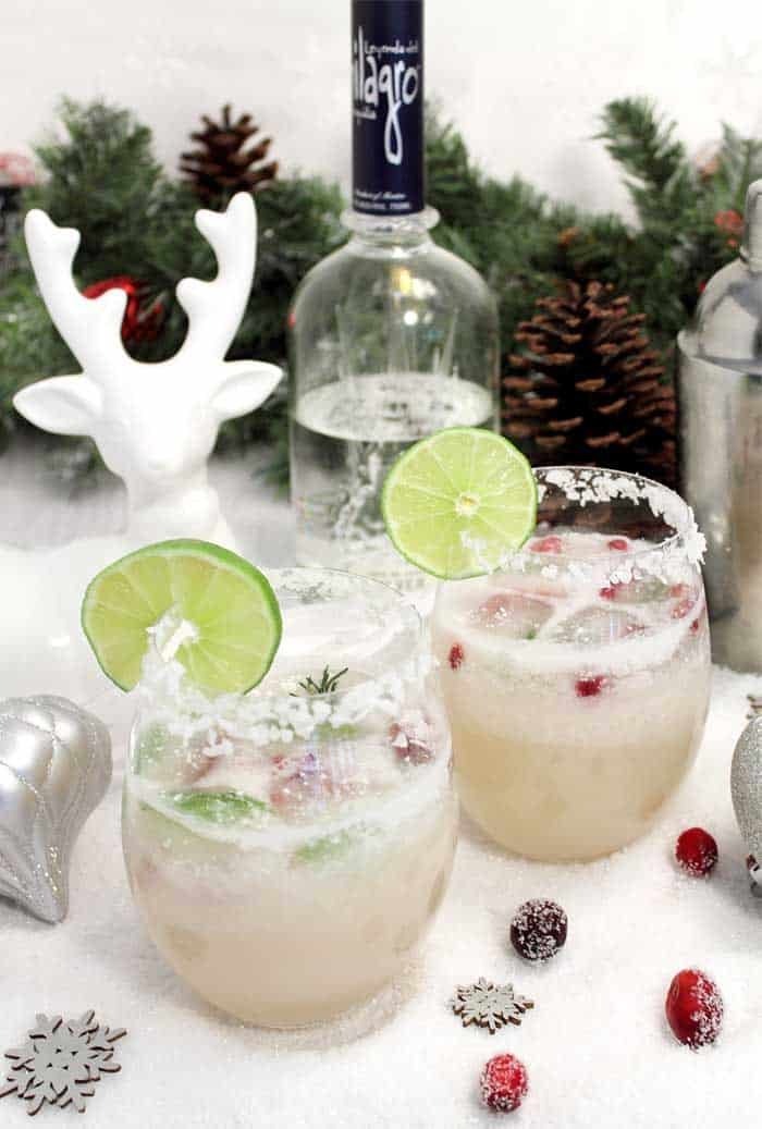 White Christmas Margarita tall | 2 Cookin Mamas