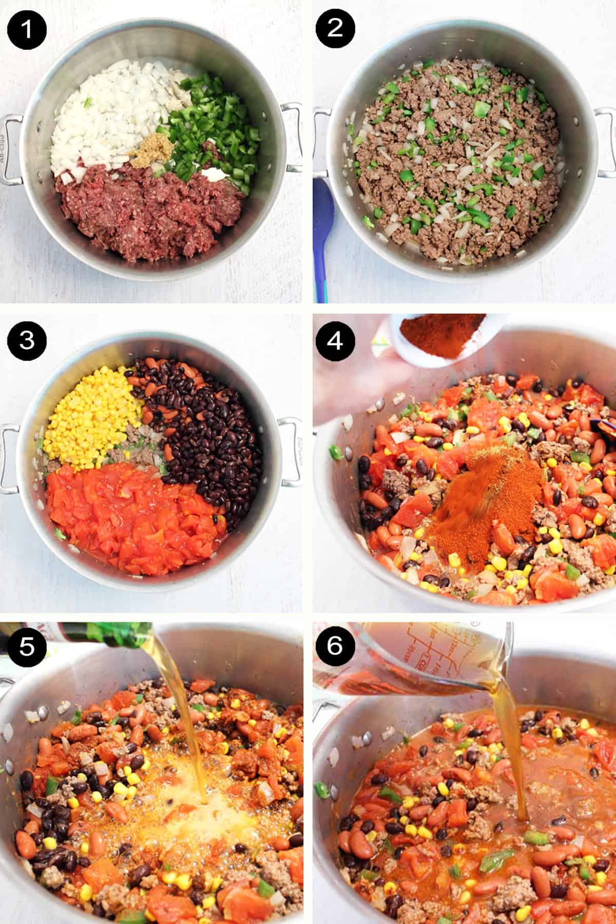 Prep steps for making Chipotle Beef Chili.