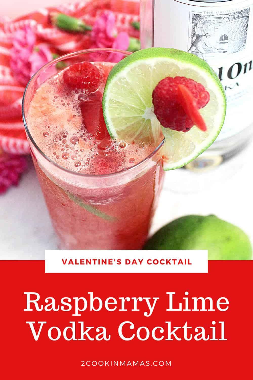 Raspberry Lime Rickey Cocktail