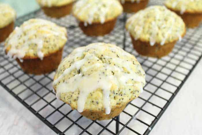 Lemon Poppy Seed Muffins cooling | 2 Cookin Mamas