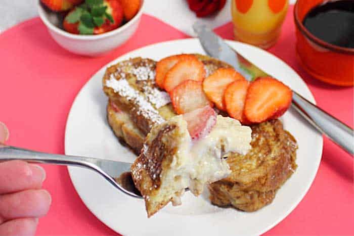 Strawberry Stuffed French Toast bite   2 Cookin Mamas