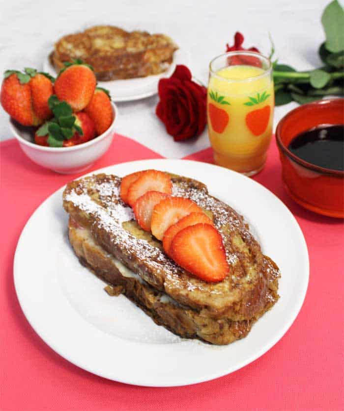 Strawberry Stuffed French Toast breakfast | 2 Cookin Mamas