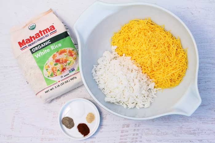 Cheesy Rice Crisps ingredients | 2 Cookin Mamas