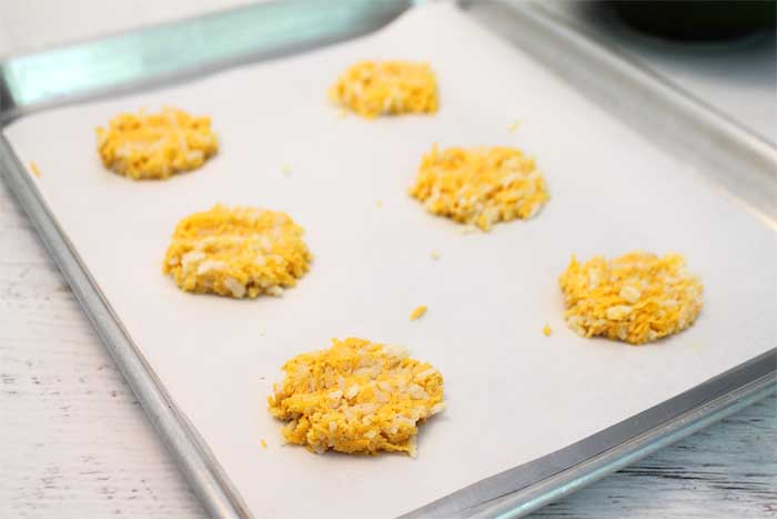 Cheesy Rice Crisps ready to bake | 2 Cookin Mamas