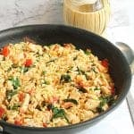 Garlic Chicken with Orzo square | 2 Cookin Mamas
