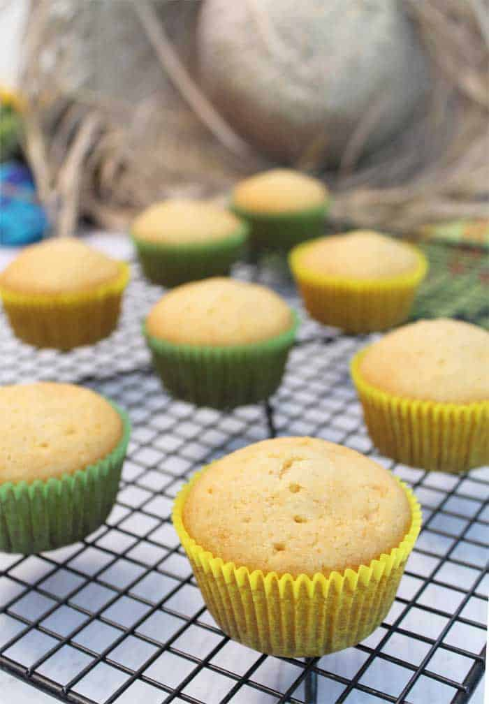 Easy Tequila Lime Cupcakes with Margarita Frosting baked | 2 Cookin Mamas