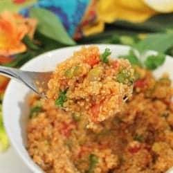 Spanish Quinoa square 2 | 2 Cookin Mamas
