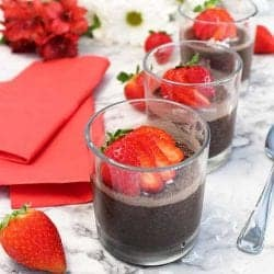 Chocolate Chia Seed Pudding square | 2 Cookin Mamas