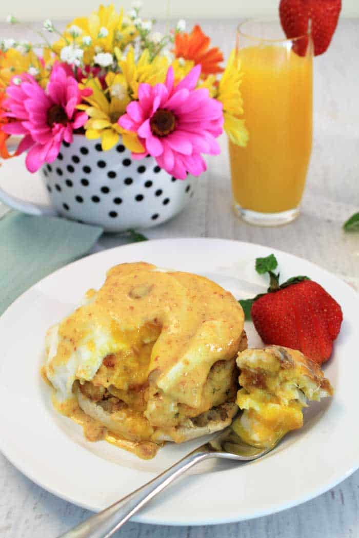 Crab Cake Eggs Benedict brunch | 2 Cookin Mamas