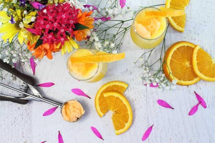 Sparkling Mimosas overhead | 2 Cookin Mamas